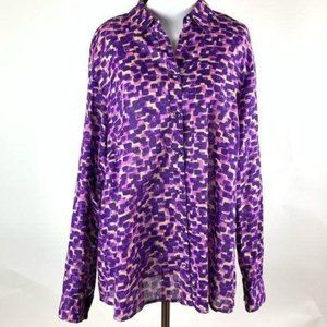 Coldwater Creek top size 1X/18 no iron button down